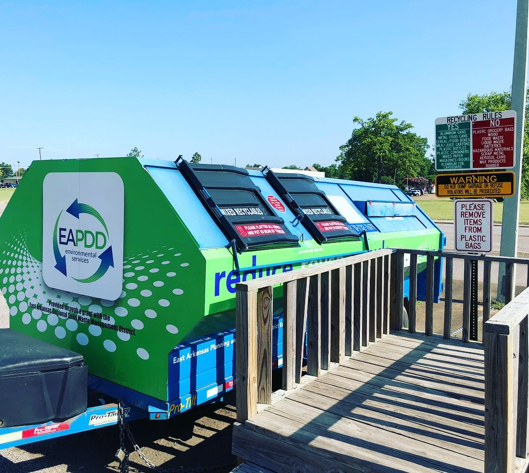 West Memphis Recycling, City of West Memphis Recycling, EAPDD Dumpster