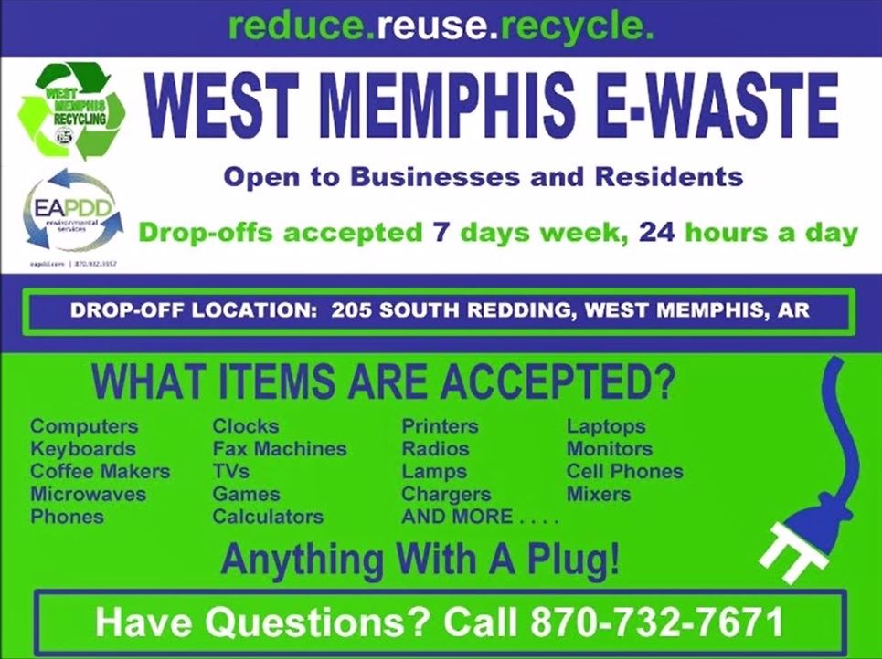 E-Waste West Memphis EAPDD Recycle