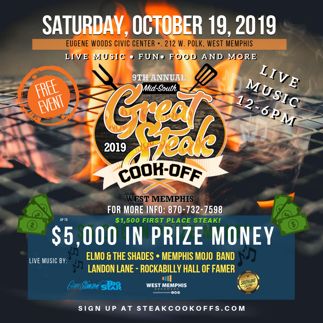 9th annual great steak cook off west memphis convention and visitors bureau