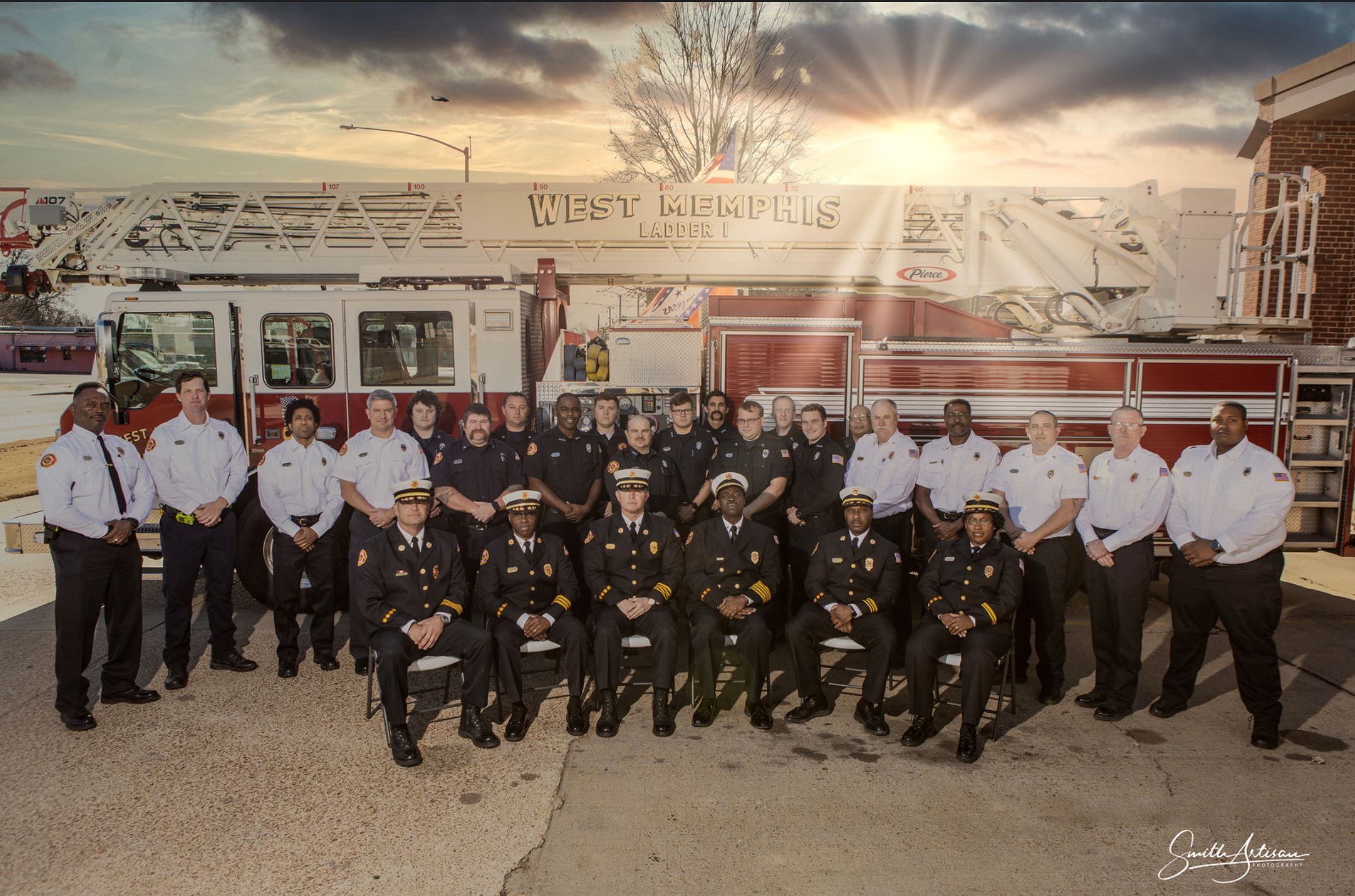 West Memphis Fire Department Firefighters and staff