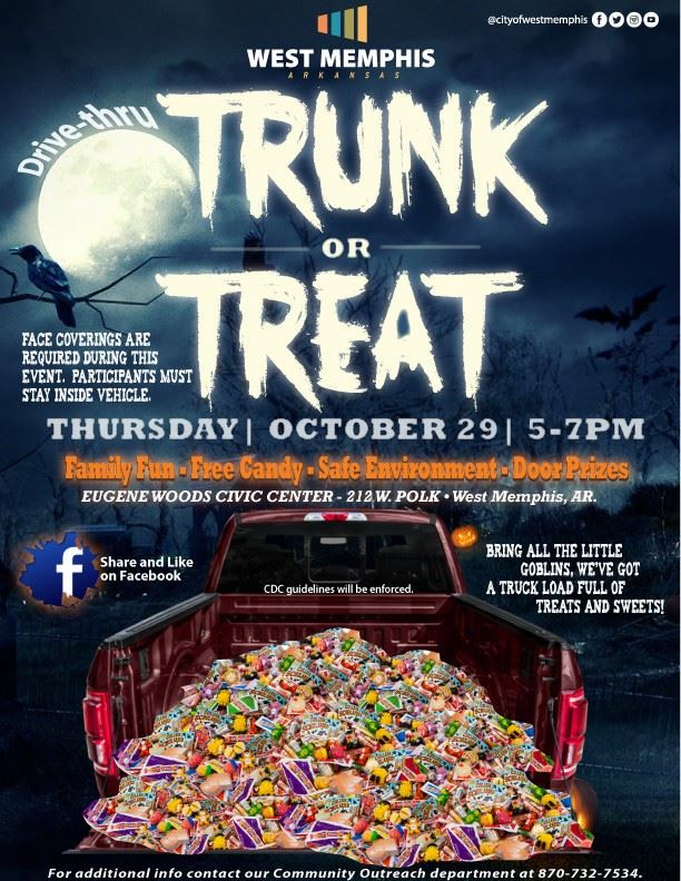 Halloween 2020 Drive-Thru Trunk or Treat West Memphis