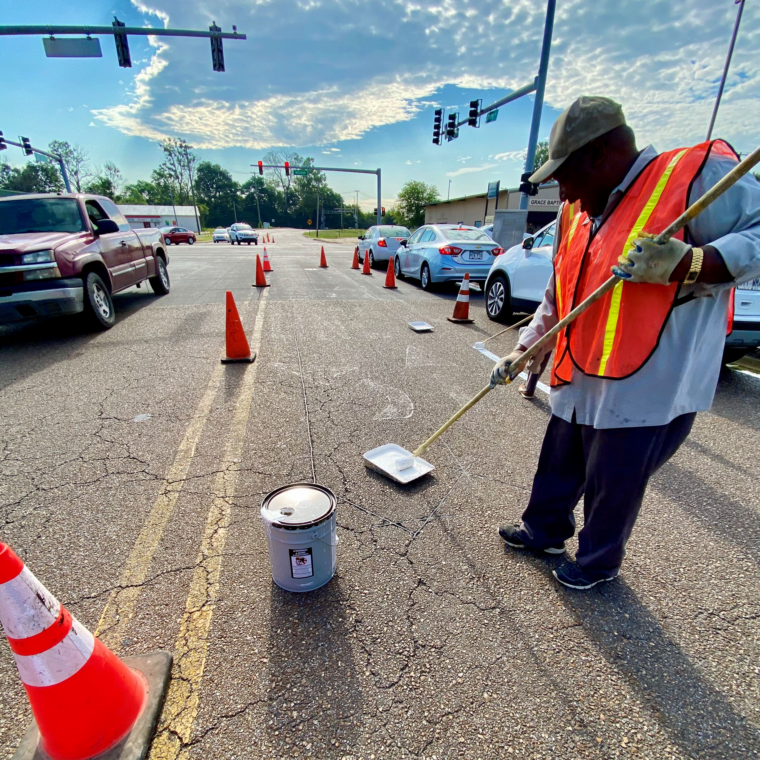 City of West Memphis Street Department Paint Crew